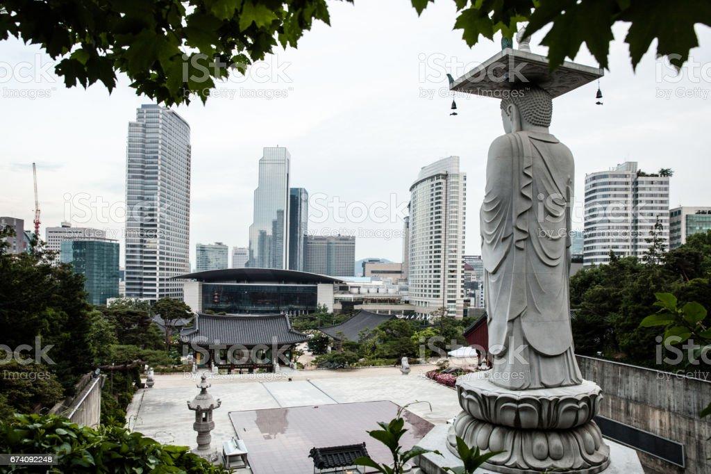 Seoul - South Korea Gangnam district cityscape royalty-free stock photo