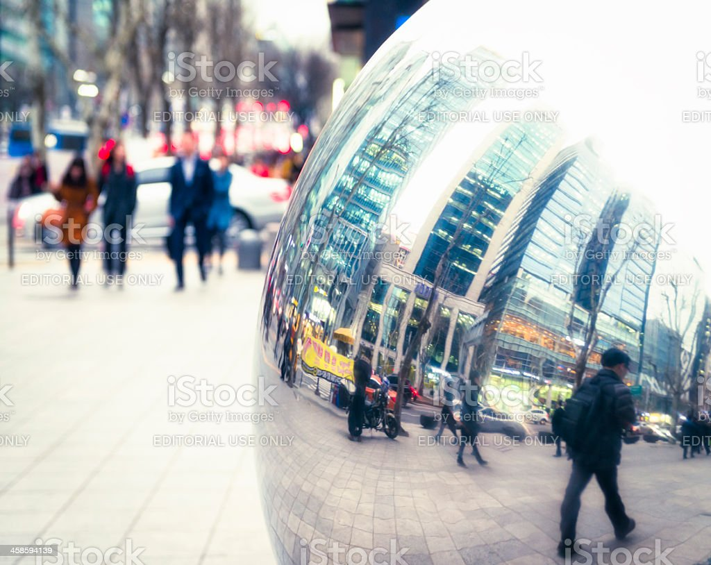 Seoul Street Commuters royalty-free stock photo
