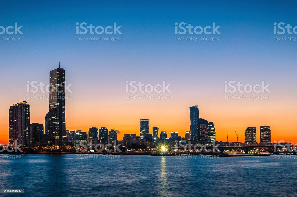 Seoul Sunset stock photo