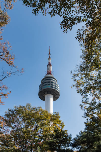 N Seoul Tower in Seoul, South Korea stock photo
