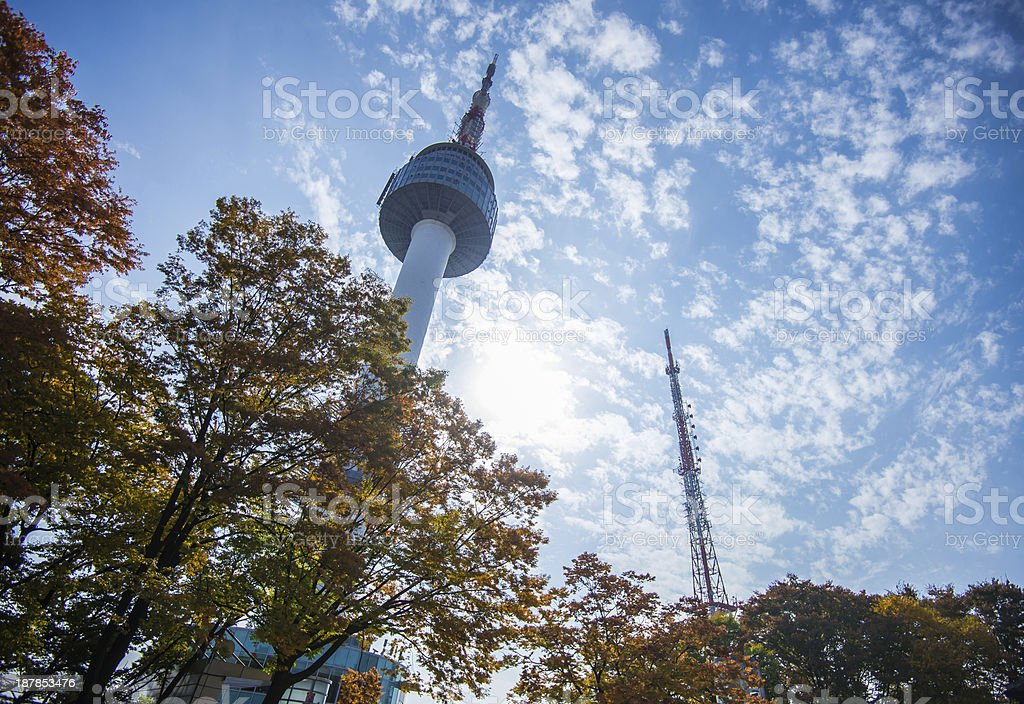 N Seoul Tower royalty-free stock photo