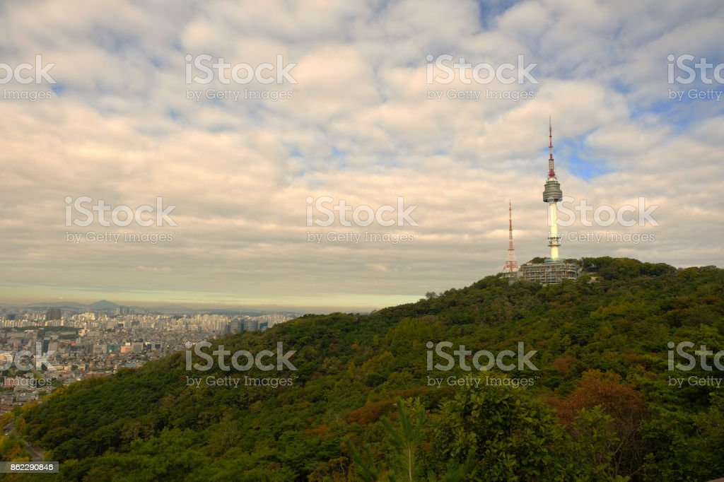 N Seoul Tower, South Korea stock photo