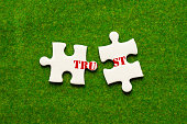istock separate two jigsaw puzzle with trust wording 964771324