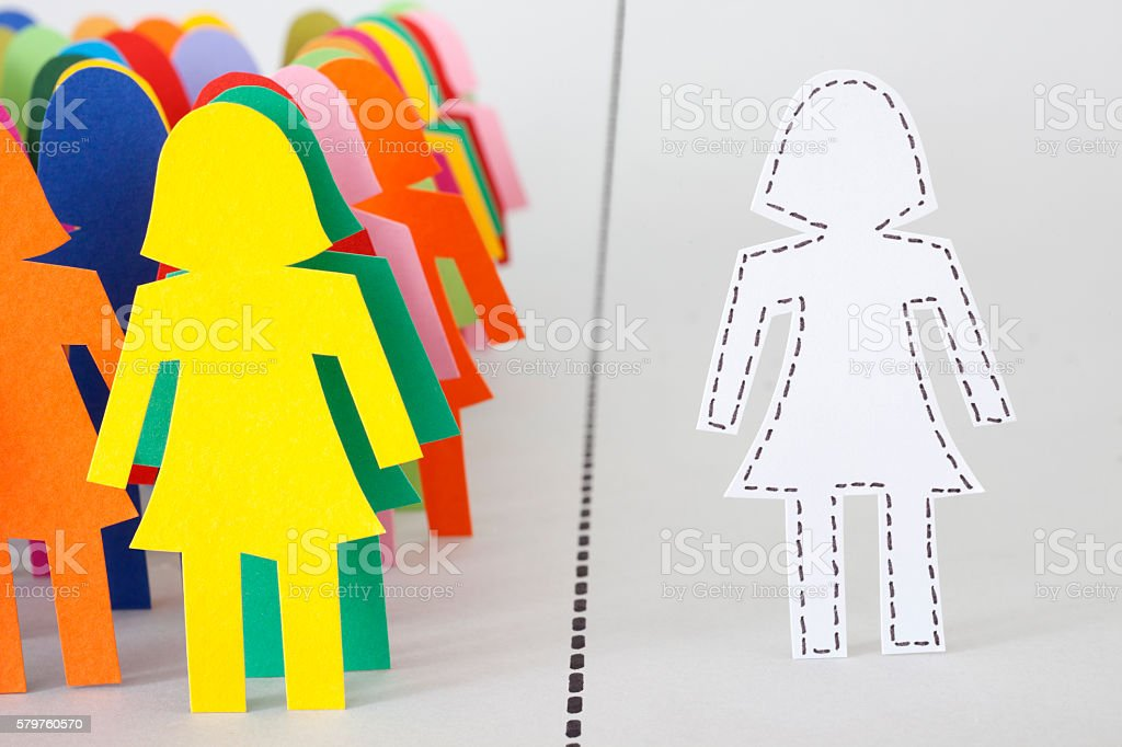 Separated woman stock photo