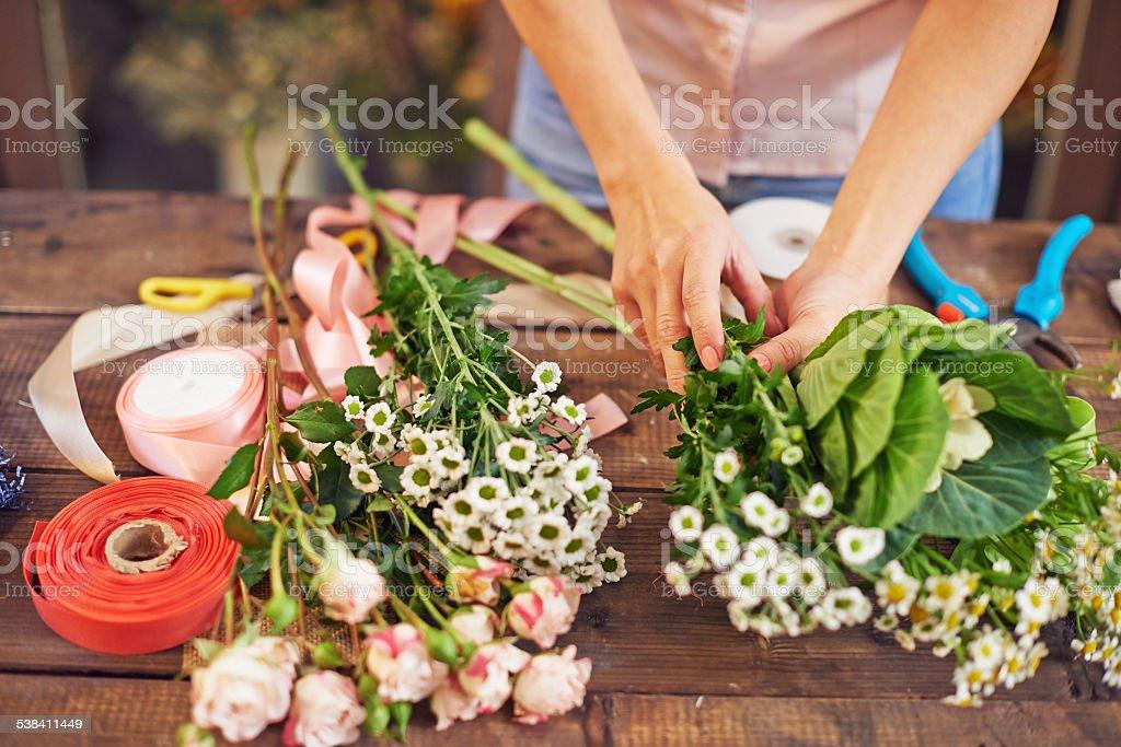 Separating flowers stock photo