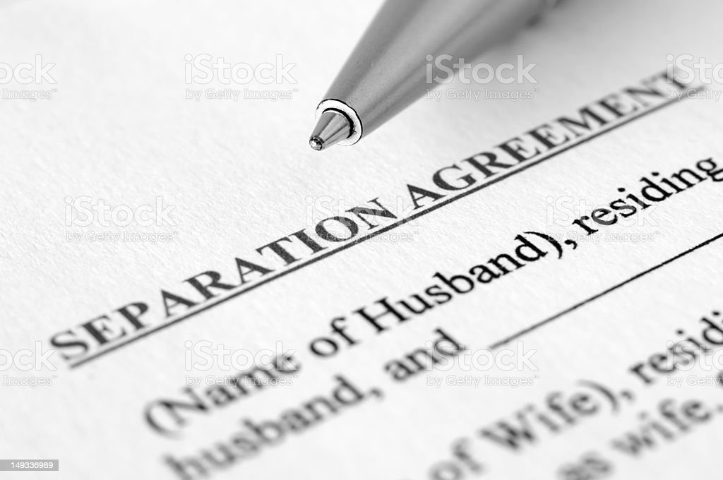 Separation agreement stock photo
