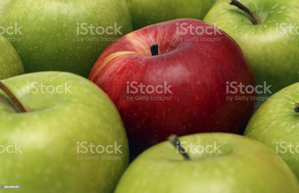 separation concepts with apples royaltyfri bildbanksbilder