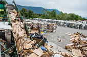 Cardboard garbages have to be collected and prepared for recycling.
