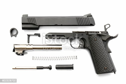 istock Seperate parts handgun. Pistol Part. 602328702