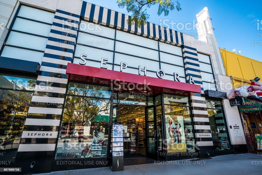 Sephora store in Santa Monica, USA stock photo