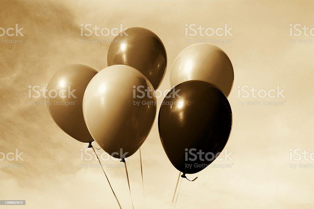 Sepia Balloons royalty-free stock photo