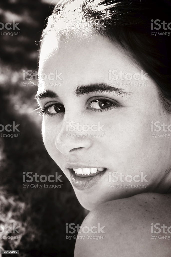 Sepia Beauty stock photo