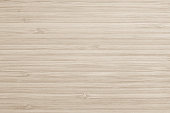 Sepia beige wood texture bamboo wooden kitchen cutting board grainy detail background in light brown color