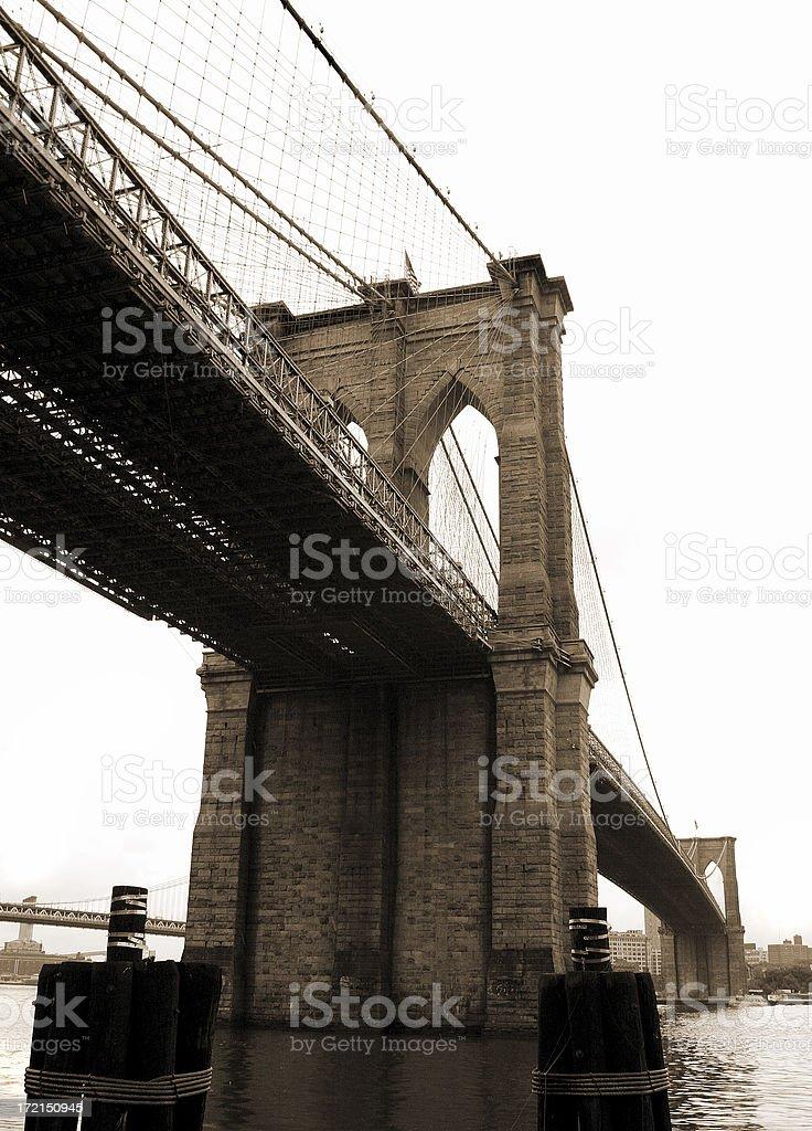 Sepia Bridge royalty-free stock photo