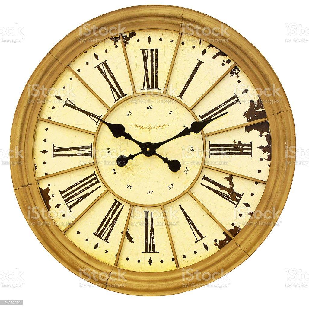 Sepia clock royalty-free stock photo