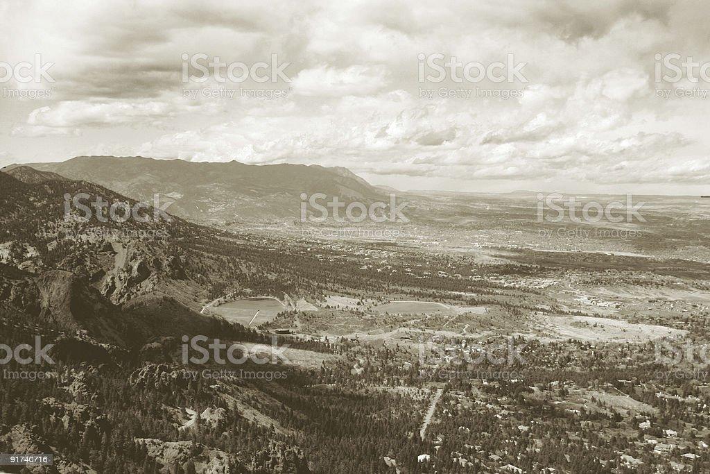 Sepia Colorado panorama stock photo