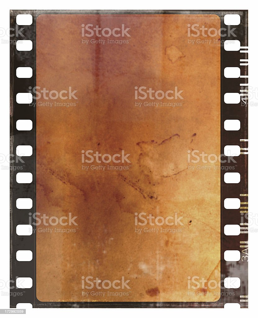 Sepia Grunge Film Strip with Copy Space stock photo