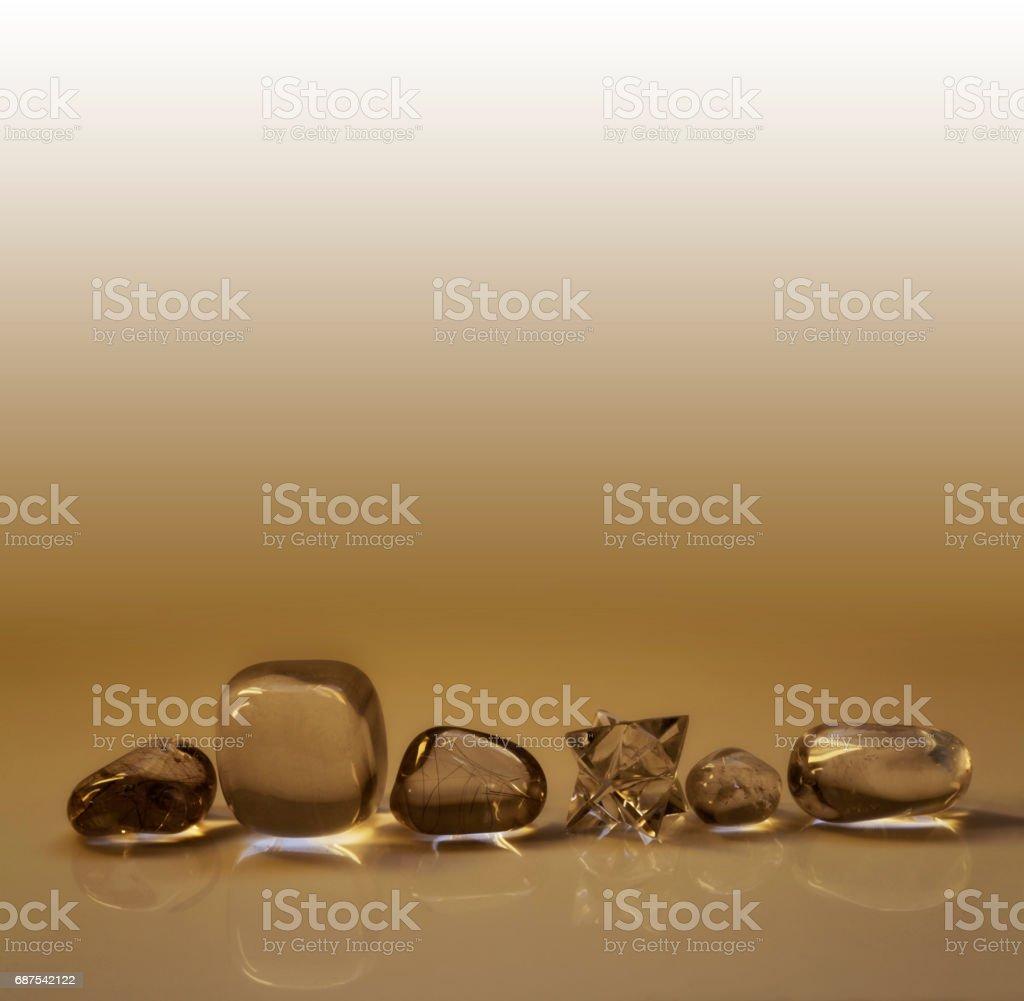 Sepia Healing Crystals Header stock photo