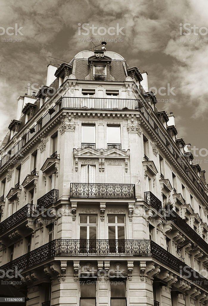 sepia paris royalty-free stock photo