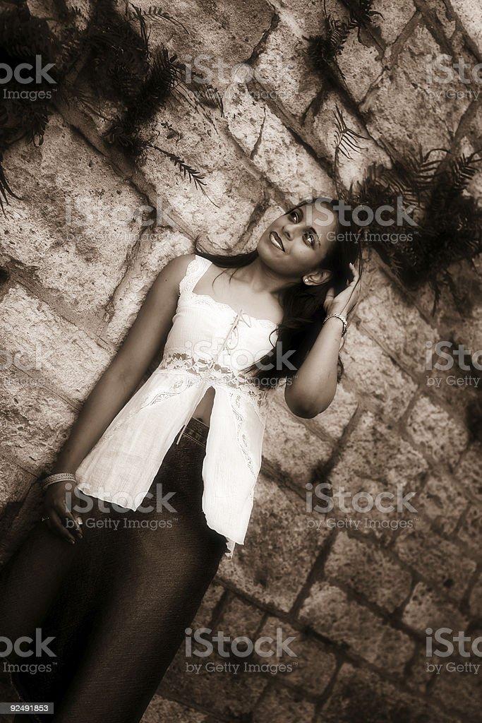 Sepia Portrait royalty-free stock photo