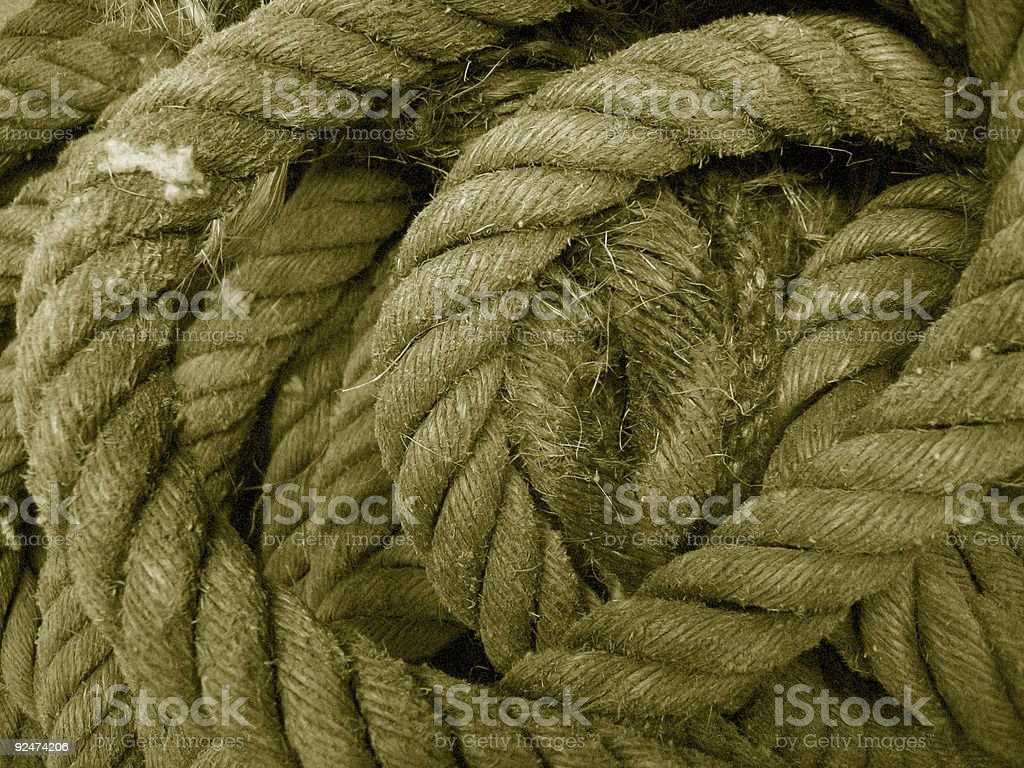 Sepia Rope Texture royalty-free stock photo