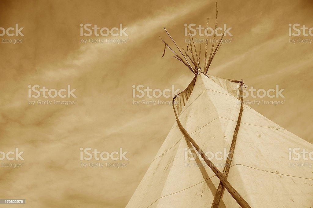 Sepia Tipi royalty-free stock photo