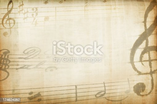 Yellowed composition background