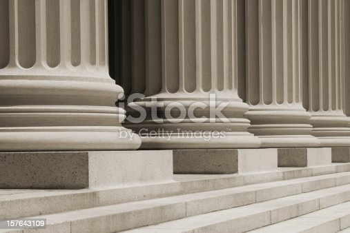 istock Sepia Vintage Column Close Up 157643109