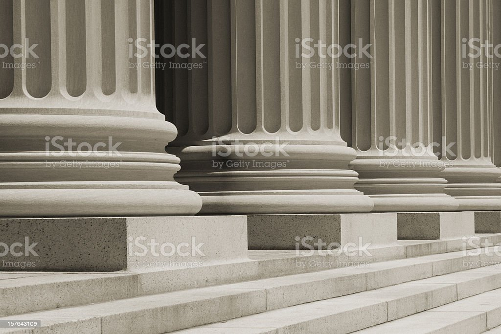 Sepia Vintage Column Close Up stock photo