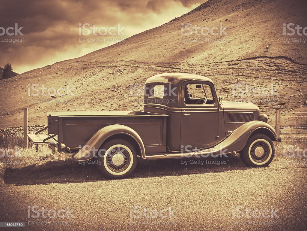 Sepia Vintage Truck Stock Photo Download Image Now Istock