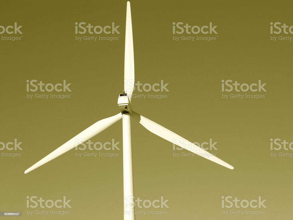 Sepia Wind Power royalty-free stock photo