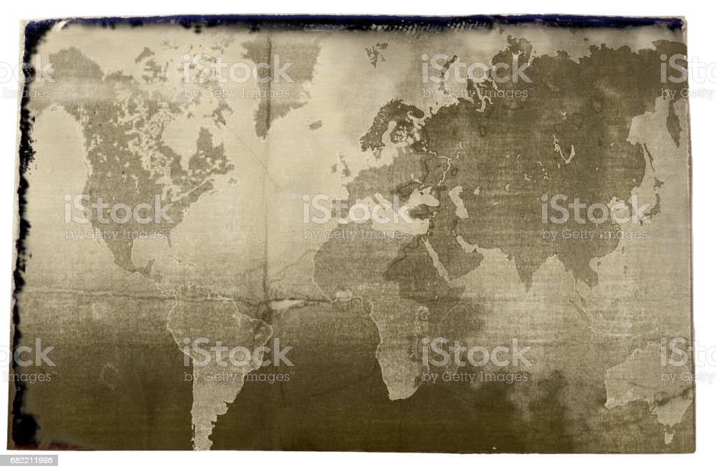 Sepia World Map In Vintage Style. Elements Of This Image Furnished By NASA  Royalty