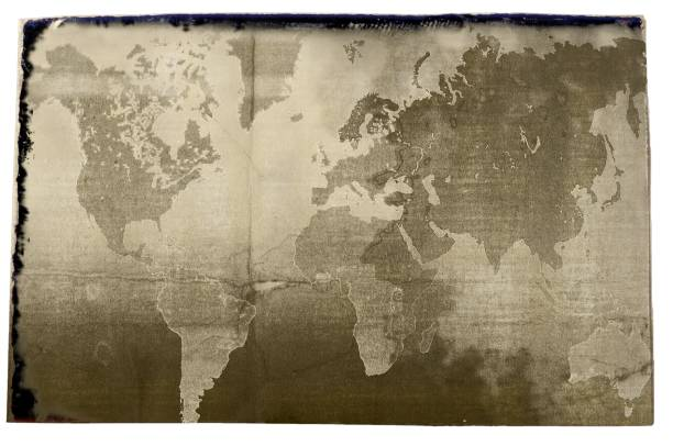 Royalty free globe map earth sepia toned pictures images and stock sepia world map in vintage style elements of this image furnished by nasa stock photo gumiabroncs Choice Image