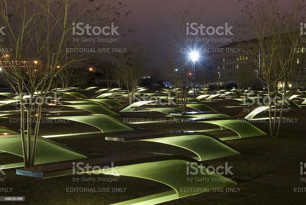 September 11, 2001 Memorial at the Pentagon stock photo