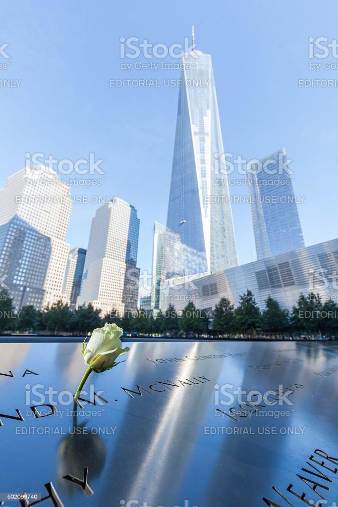 September 11 Memorial in Manhattan, NYC stock photo