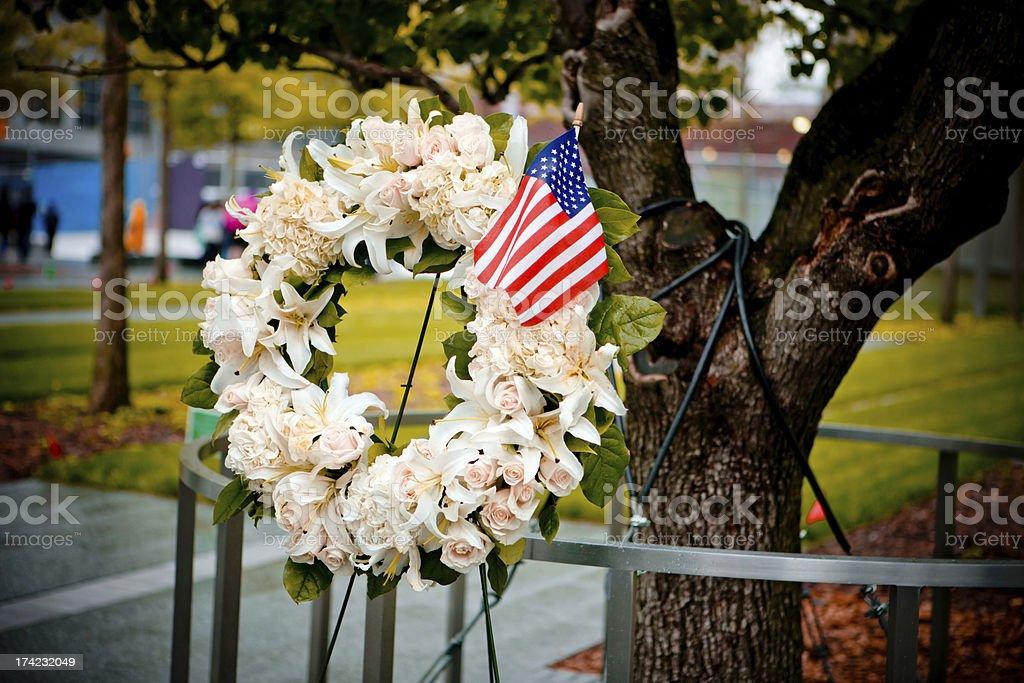 September 11 Memorial, New York, USA royalty-free stock photo