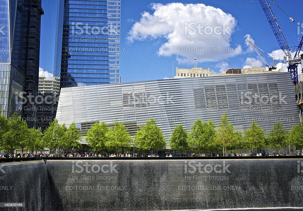 September 11th Memorial & Museum, World Trade Center site, NYC royalty-free stock photo
