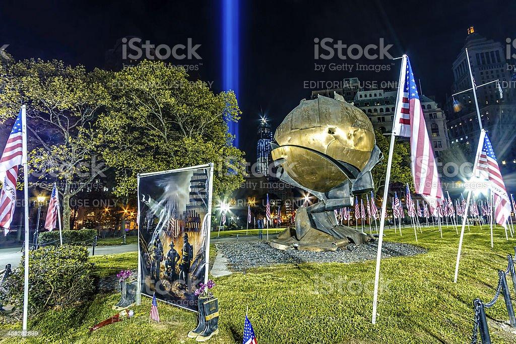 September 11th Memorial Site stock photo