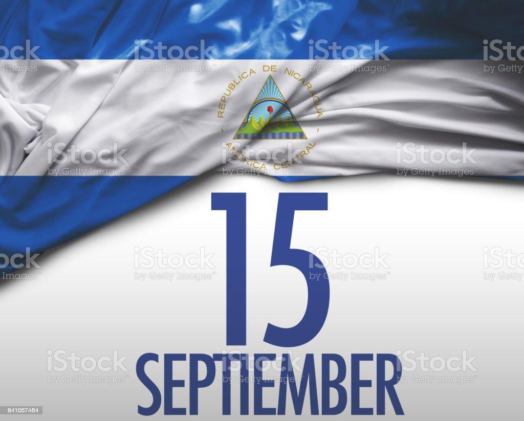 15 de septiembre, independencia de Nicaragua - foto de stock