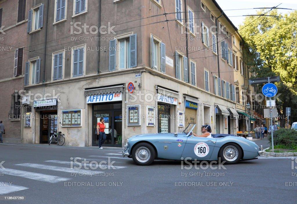 September 20. 2013 Italy Bologna. Showing sports retro cars club...