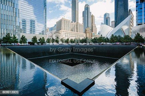 istock 11 September 2001 Memorial in New York 609913920