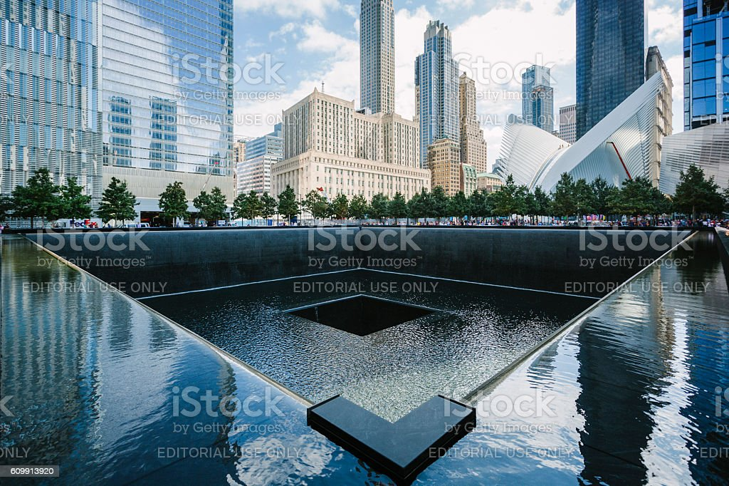 11 September 2001 Memorial in New York stock photo