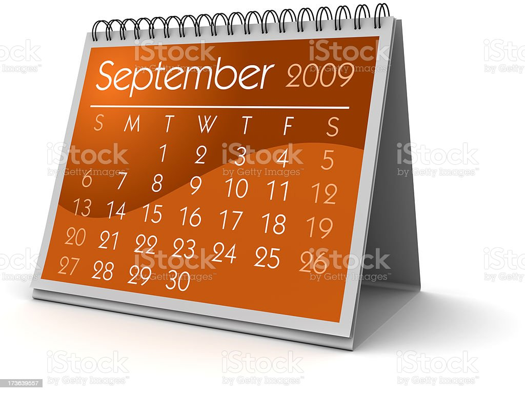 September 2009 royalty-free stock photo