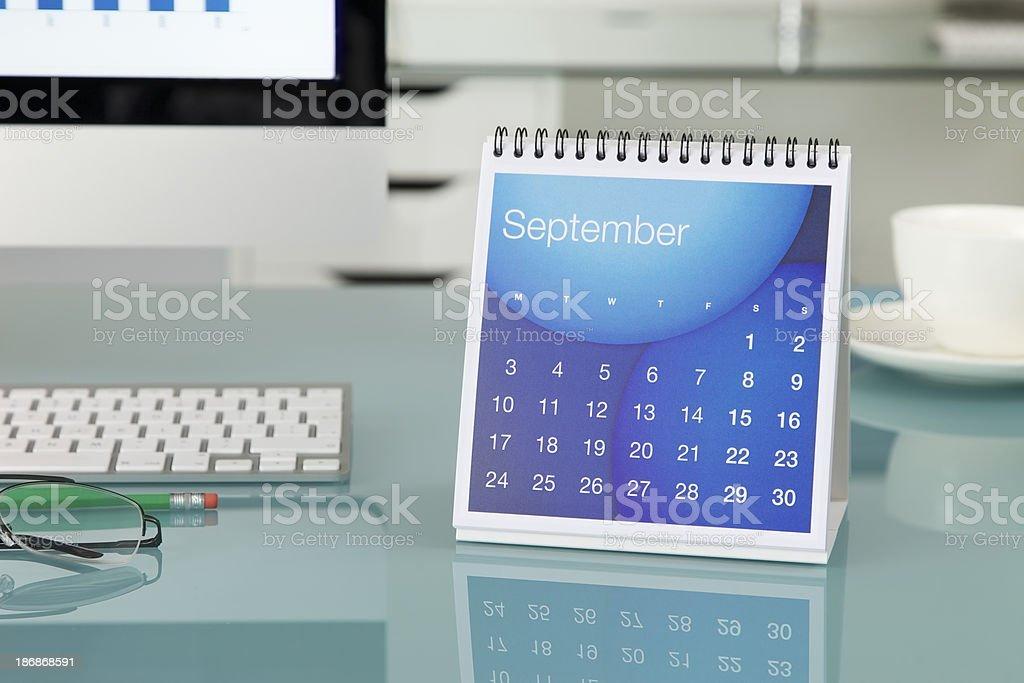September 2012…. stock photo