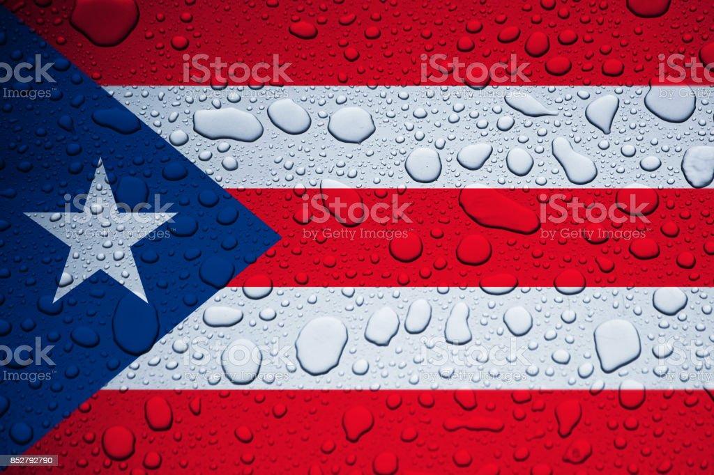 PUERTO RICO, CARIBBEAN, 23 September 2017 - Hurricane Maria leaves island under water. World weeps. stock photo