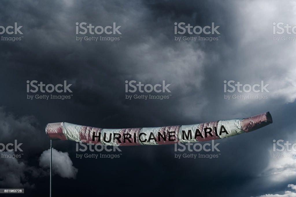 PUERTO RICO, CARIBBEAN, 20 September 2017 - Killer Hurricane Maria Winds stock photo