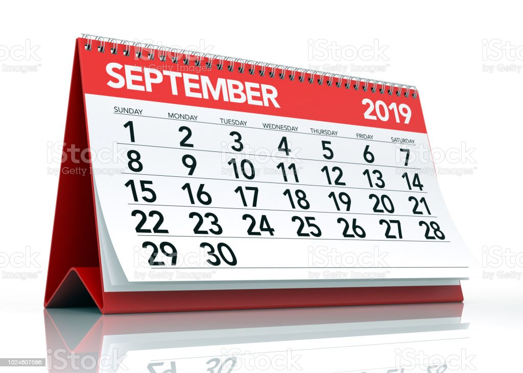 September 2019 Calendar Stock Photo More Pictures Of 2019 Istock
