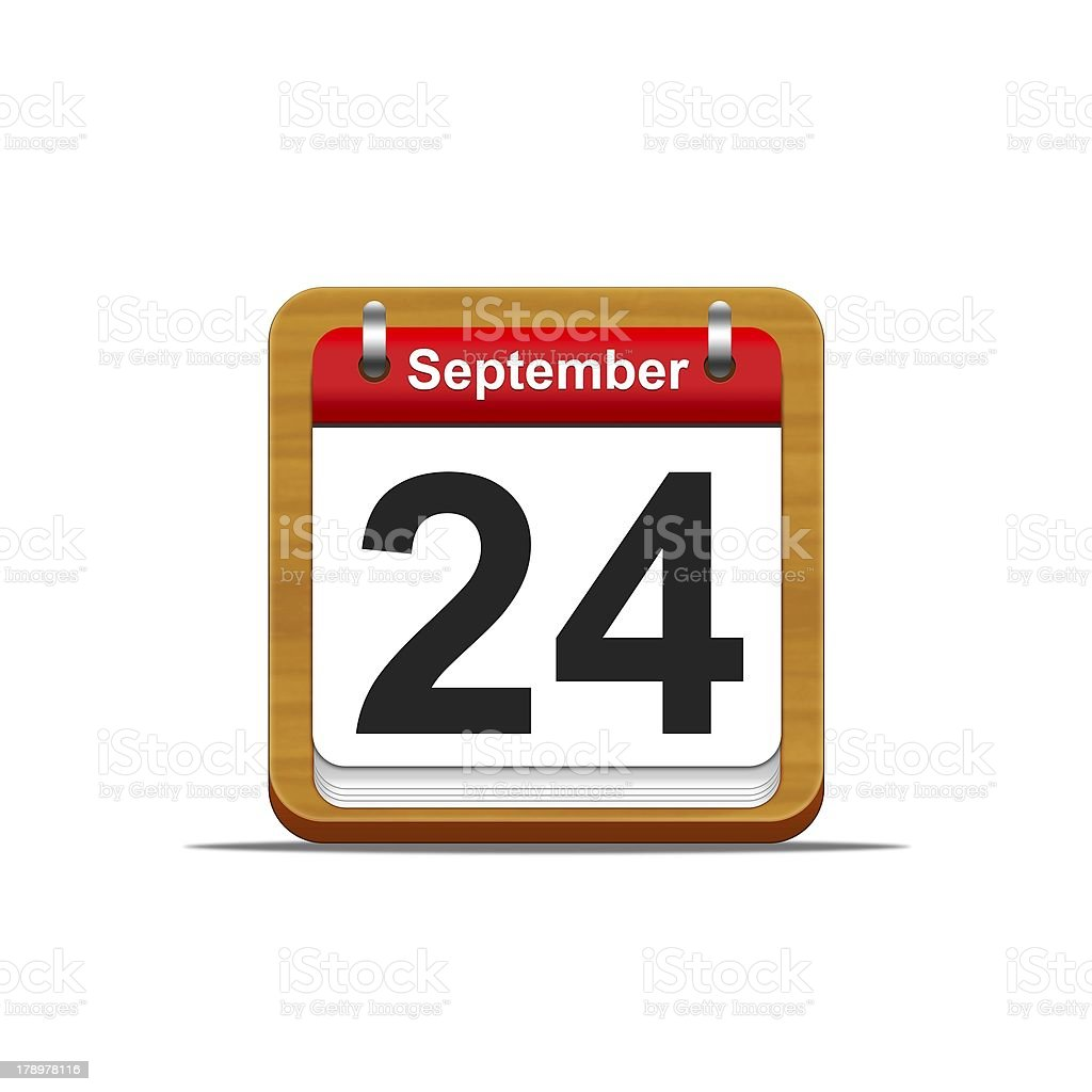 September 24. stock photo