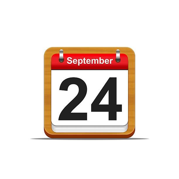du 24 septembre. - nombre 24 photos et images de collection