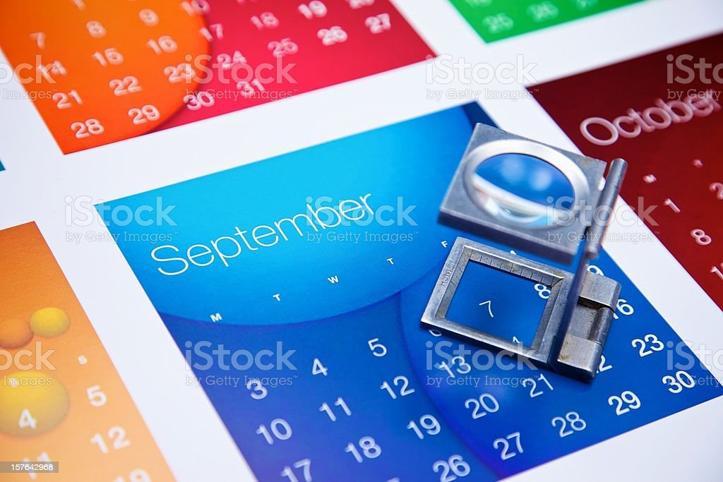 September and the eye glass... royalty-free stock photo